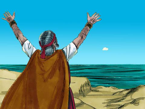 Le prophète Elie prie Jéhovah Dieu ou Yahvé car la famine dure depuis 3 ans. Après 3 années de sècheresse et de famine pendant le règne d'Achab roi d'Israël, Dieu fait venir enfin la pluie.