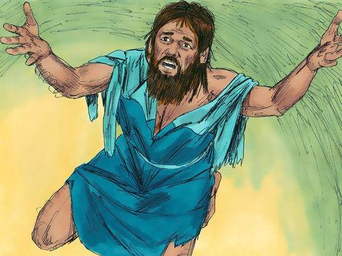 A l'offrande du soir, Esdras tombe à genoux et tend les mains vers Jéhovah, son Dieu en disant : «Mon Dieu, quelle humiliation! Mon Dieu, j'éprouve trop de honte pour oser lever mes regards vers toi. Nos fautes s'accumulent jusqu'au ciel.