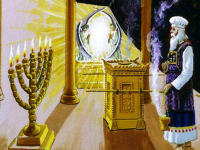 Les chandeliers d'or du livre de l'Apocalypse nous rappellent le culte pur rendu à Yahvé au sein de la tente de la rencontre ou tabernacle, puis dans le Temple de Jérusalem. Jésus, en tant que grand prêtre se trouve au milieu des chandeliers.