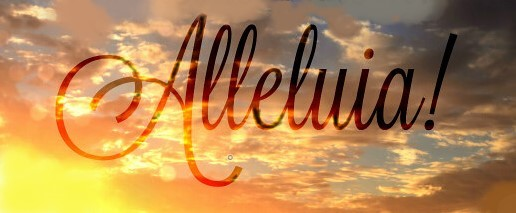 'Notre Père céleste! Que la sainteté de ton nom soit respectée, Alléluia ! Louez Jah ou Louez Jéhovah ou louez Yahvé ! Le Nom divin, le Nom de Dieu doit être glorifié, célébré, respecté !