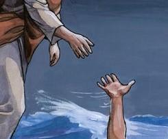 Il faut nager avec persévérance jusqu'au bout en fixant du regard celui qui nous tend la main, Jésus. Matthieu 24 : 13 : « mais celui qui persévérera jusqu'à la fin sera sauvé. »
