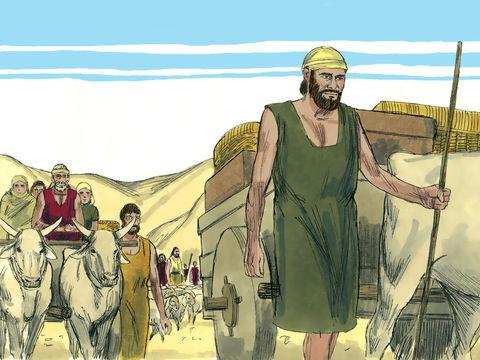 Je dis à propos de Cyrus: «Il est mon berger et il accomplira toute ma volonté. Il dira à Jérusalem: 'Sois reconstruite!' et au temple: 'Que tes fondations soient posées!' Les Juifs sont libérés d'exil à Babylone, ils retournent chez eux.