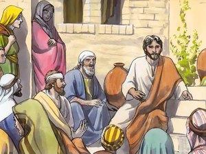Écoutons Jésus-Christ et mettons en pratique ses paroles. Jésus explique que celui qui écoute ce qu'il dit et l'applique ressemble à un homme sensé qui a bâti sa maison sur le roc.