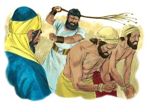 Jésus annonce que les hommes vont connaître des guerres, des famines, l'oppression, les fidèles chrétiens seront persécutés.