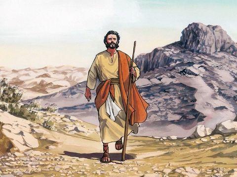Après son baptême, Jésus passe 40 jours et 40 nuits dans le désert. Il va être tenté par le Diable.