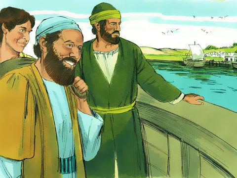 Prisca, Aquilas, Urbain, Timothée, Tite, Epaphrodite, Evodie, Syntiche, Clément, Justus, Philémon, Marc, Aristarque, Démas, Luc sont les compagnons d'œuvre de l'apôtre Paul.