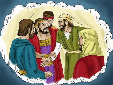 """Abraham lui répond : « Mon enfant, souviens-toi que tu as reçu tes biens pendant ta vie et que Lazare a connu les maux pendant la sienne; maintenant, il est consolé ici et toi, tu souffres. De plus, il y a un grand abîme entre nous et vous""""."""