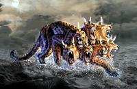 Une bête avec 7 têtes et 10 cornes sort de la mer, elle va dominer le monde. Tous l'adoreront. Elle imposera sa marque: 666 sur la main et sur le front.