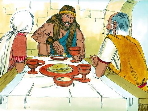 Samson ne doit pas se couper les cheveux. Il est consacré à Dieu. Il ne doit boire aucune boisson alcoolisée.