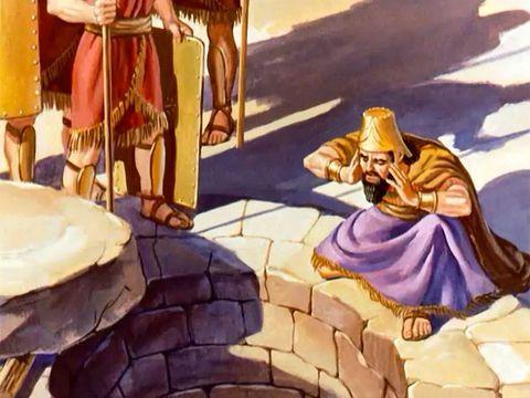 Le roi Darius est peiné mais il doit appliquer le décret qui est irrévocable.