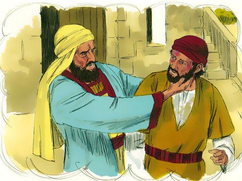 Le maître de la vigne de la parabole de Jésus envoie ses serviteurs pour prendre sa part de la vigne mais les vignerons le battent et il repart les mains vides.
