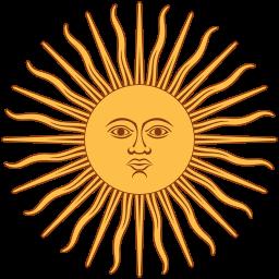 Inti, dieu soleil chez les Incas. (drapeau Argentine)- Inti, Viracocha et Illapa forment la triade de divinités la plus importante chez les Incas.