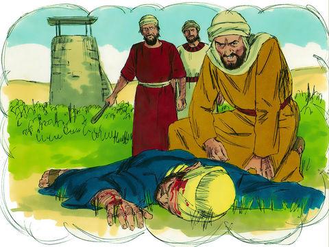 Le maître de la vigne envoie alors son propre fils, pensant que les vignerons auront plus de respect pour lui. C'estpire ! Les vignerons (chefs religieux juifs) tuent le fils unique du propriétaire (Jésus) afin de s'approprier l'héritage (l'honneur).