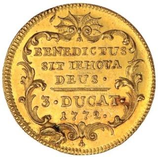 Le Nom personnel de Dieu Jéhovah écrit sur une Pièce de monnaie de 1772
