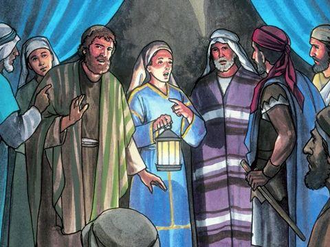 des personnes reconnaissent Pierre et lui disent : «Toi aussi, tu étais avec Jésus le Galiléen.» A trois reprises, l'apôtre Pierre renie 3 fois Jésus en disant « Je ne connais pas cet homme » !