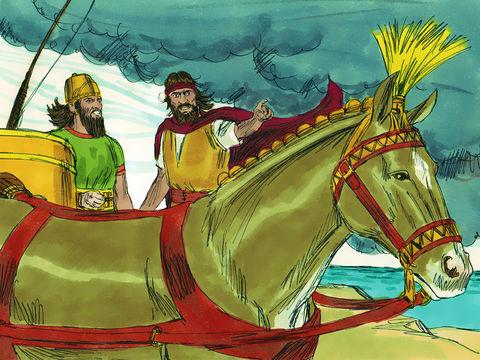 Après avoir mis à mort les 450 prophètes de Baal, Elie annonce l'arrivée de pluies torrentielles. C'est la fin des 3 années de famine. Jacques déclare que la sècheresse a duré 3 ans et demi.