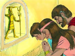 Les Israélites tombent dans l'idolâtrie et adorent le dieu Baal des Phéniciens