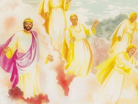 Jésus est subordonné à son Père. Justin a écrit: Nous vénérons, nous adorons, nous honorons en esprit et en vérité le fils venu d'auprès de lui, qui nous a donné ces enseignements, et l'armée des autres bons anges qui l'escortent et qui lui ressemblent.