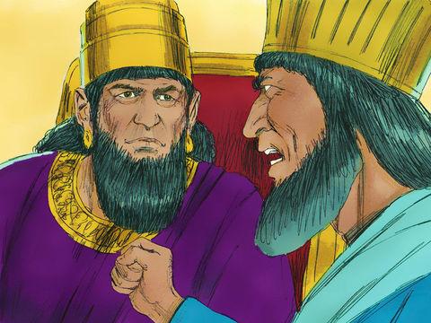 le roi permet à Haman d'utiliser l'anneau sigillaire royal afin de sceller un décret d'extermination des Juifs. Le message est écrit au nom d'Assuérus avec son accord et adressé aux satrapes du roi, aux gouverneurs de chaque province et aux chefs.