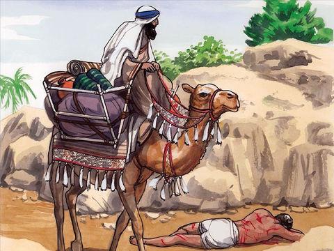 Un Lévite vient à passer près de l'homme étendu par terre, il ne le secours pas non plus.