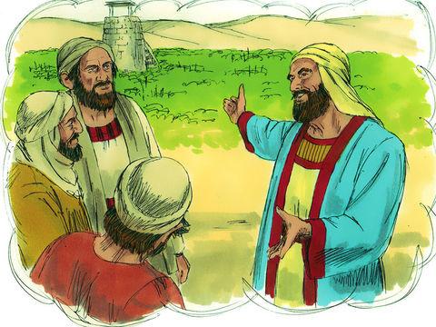 La Parabole de la vigne de Jésus-Christ. Le maître de la vigne confie sa vigne à des vignerons. La vigne représente son peuple qui doit produire de bons fruits.