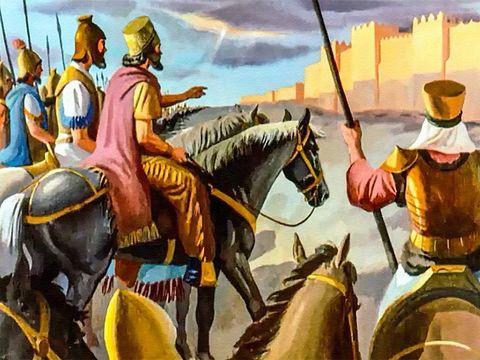 Cyrus permettra aux Juifs, alors en captivité à Babylone, de retourner chez eux et de reconstruire le Temple de Jérusalem accomplissant ainsi la prophétie biblique énoncée deux siècles plus tôt par le prophète Esaïe.