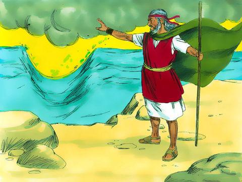 C'est cette mer que les Israélites ont miraculeusement traversée lorsqu'ils ont été libérés de leur esclavage en Egypte puis poursuivis par les chars de l'armée du pharaon. La Bible l'appelle la mer Rouge et la mer des Roseaux.