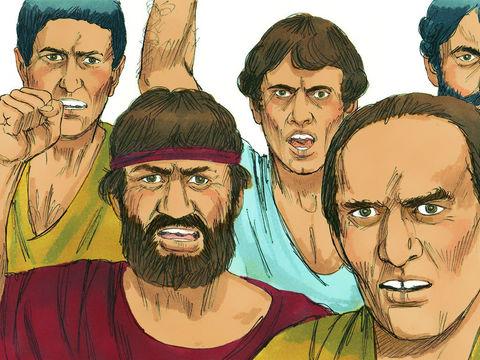 """A ces mots, ils furent remplis de colère et se mirent à crier: """"Grande est l'Artémis des Ephésiens!"""" Mais quand ils reconnurent qu'il était juif, tous crièrent d'une seule voix pendant près de deux heures: """"Grande est l'Artémis des Ephésiens!"""" »"""