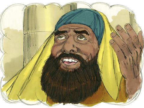 La Parabole de la prière du pharisien et du collecteur d'impôts. Les deux prient, le pharisien est orgueilleux.