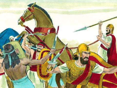 Au cours d'un affrontement contre les Philistins, Israël est battu, les Philistins tuent 4000 hommes sur le champ de bataille. Pour s'assurer du soutien de Jéhovah, le peuple décide d'aller récupérer l'arche de l'alliance symbole de la puissance de Dieu.