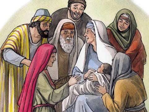 Elizabeth déjà âgée et stérile met au monde un fils: Jean le Baptiste qui ouvrira la voie à Jésus.