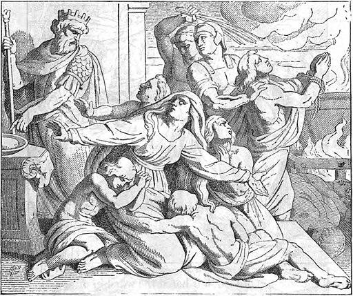 Révoltés par la corruption des prêtres, beaucoup de Juifs se tournent vers un nouveau groupe : les Hassidim qui enseignent l'obéissance stricte à la Loi de Moïse. Beaucoup sont morts par fidélité à Dieu, comme la mère et ses 7 fils morts torturés.