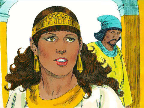Au cours du banquet, le roi repose la même question à Esther: «Quel est l'objet de ta demande? Il te sera accordé. Que désires-tu? Même si tu réclames la moitié du royaume, tu l'obtiendras.»