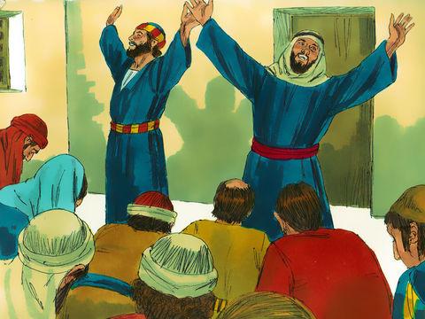 Les apôtres font de nombreux miracles et peuvent transmettre ce don à d'autres chrétiens par l'intermédiaire de l'esprit saint.
