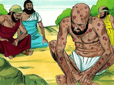 Job vivait déjà un véritable enfer et il pensait que les terribles malheurs qui le frappaient étaient envoyés par Dieu lui-même. Ses propres amis prétendaient qu'il avait dû faire quelque chose de mal pour mériter de tels châtiments.