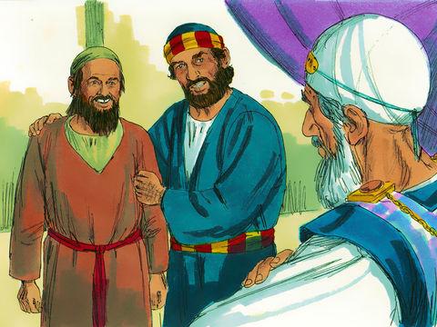 Sachez-le bien, vous tous, et que tout le peuple d'Israël le sache: c'est par le nom de Jésus-Christ de Nazareth, celui que vous avez crucifié et que Dieu a ressuscité, oui, c'est par lui que cet homme se présente en pleine santé devant vous.