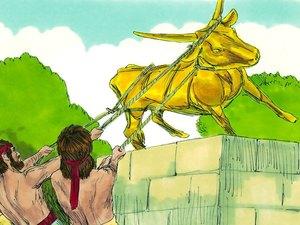 Le roi Josias de Juda, le dernier bon roi de Juda, a fait détruire toutes les idoles jusque dans les plus hautes montagnes et collines. L'idolâtrie a toujours été fortement condamnée par Dieu.