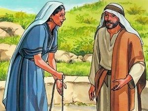 Jésus et la femme Samaritaine. Jésus avait beaucoup de considération pour les femmes.