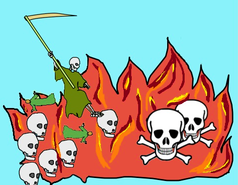 Apocalypse 20 :14 : « Puis la mort et le séjour des morts furent jetés dans l'étang de feu. » - A la fin du millénium, la mort n'existera plus. Il s'agit de la personnification de la mort.