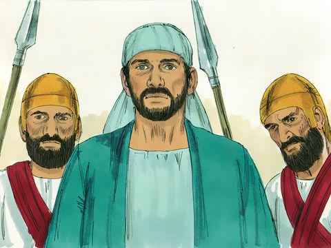 Etienne est arrêté suite à de fausses accusations. Il est amené au sanhédrin. Il se défend en parlant avec hardiesse.