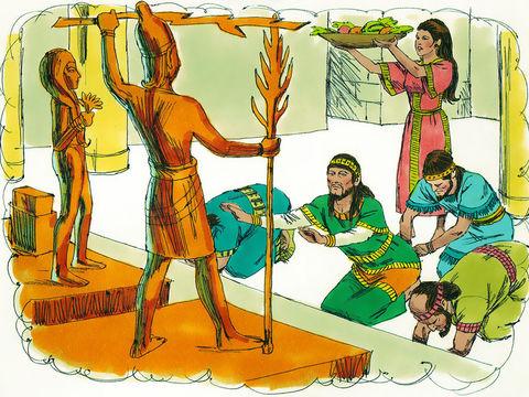 Le roi s'était lié aux nations pour lesquelles Dieu avait interdit tout mariage, a construit de nombreux hauts-lieux afin que ses femmes étrangères puissent offrir des parfums à leurs dieux païens et ainsi vénérer Baal, Astarté, Kémosh, Milcom, Moloch.