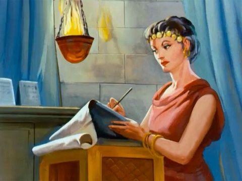 Jézabel, la femme d'Achab roi d'Israël n'hésite pas à recourir au meurtre pour obtenir ce qu'elle veut. Jézabel écrit alors, au nom d'Achab, des lettres qu'elle marque du sceau royal et les envoie aux anciens et aux magistrats concitoyens de Naboth.