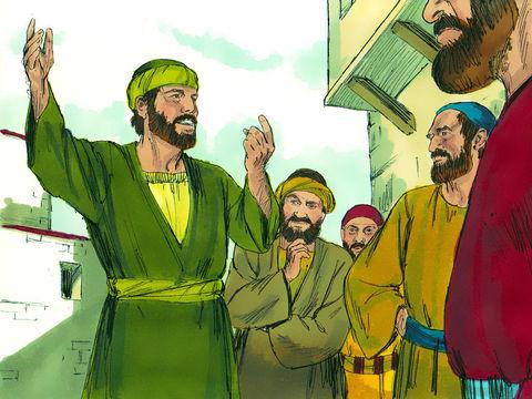 Saul de Tarse a rencontré Jésus ressuscité sur la route de Damas et s'est converti au christianisme. Il prêche avec enthousiasme prouvant que Jésus est réellement le Fils de Dieu.