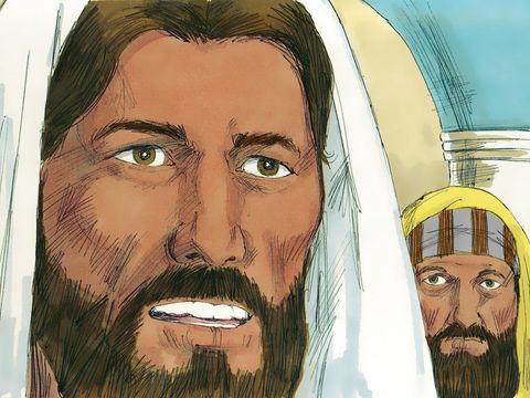 Jésus ordonne aux esprits mauvais dans l'homme possédé: « Tais-toi, et sors de cet homme ! » Le démon jette l'homme par terre au milieu des assistants et sort sans lui faire aucun mal. C'est la stupeur parmi les témoins de cette scène.
