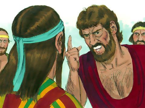Les frères de Joseph sont jaloux de Joseph, ils lui parlent avec irritation et colère