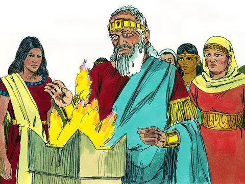 Mais Salomon a aimé beaucoup de femmes étrangères, des Moabites, des Ammonites, des Edomites, des Sidoniennes, des Hittites et s'est mis à adorer leurs dieux vers la fin de sa vie. Il s'est ainsi, avec infidélité et ingratitude, détourné de son Créateur.