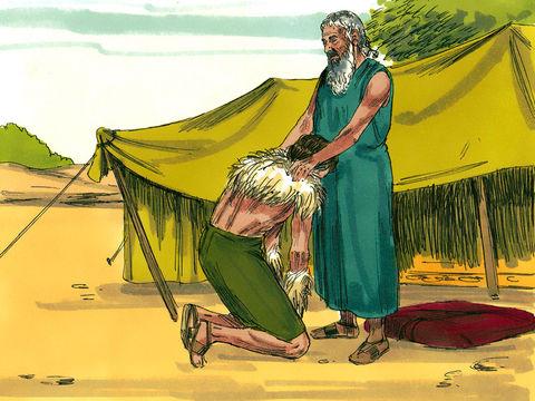 Isaac bénit Jacob dont le nom est ensuite changé par Dieu en Israël. L'origine du nom « Israël » remonte à Jacob, petit-fils d'Abraham, qui a été renommé par Dieu lui-même « Israël ». Ses descendants sont appelés « Israélites ».