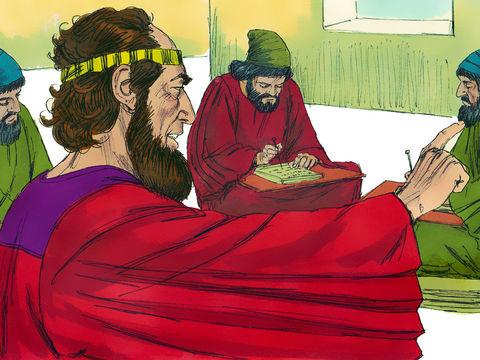 Le roi lui-même ne peut révoquer le décret d'extermination rédigé par Haman ; chez les Mèdes et les Perses, les décrets sont irrévocables, c'est la loi.