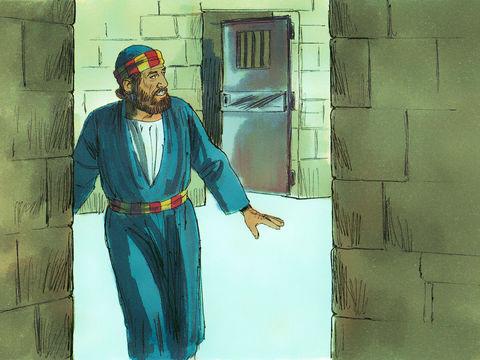 Pierre sort libre de prison, il a été libéré par une ange de Jéhovah.
