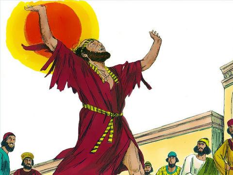 Le premier ministre du roi Assuérus le perse était en effet en colère après que Mardochée a refusé de se prosterner devant lui. Il influence le roi pour qu'il promulgue un décret d'extermination du peuple juif. Mardochée et les Juifs crient leur douleur.
